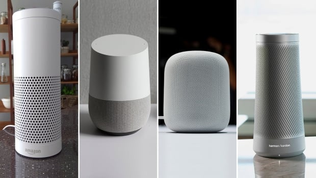 speakers in amazon. four smart speaker models, from left to right: amazon\u0027s echo, google\u0027s google home speakers in amazon s
