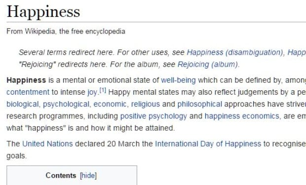 happiness wikipedia