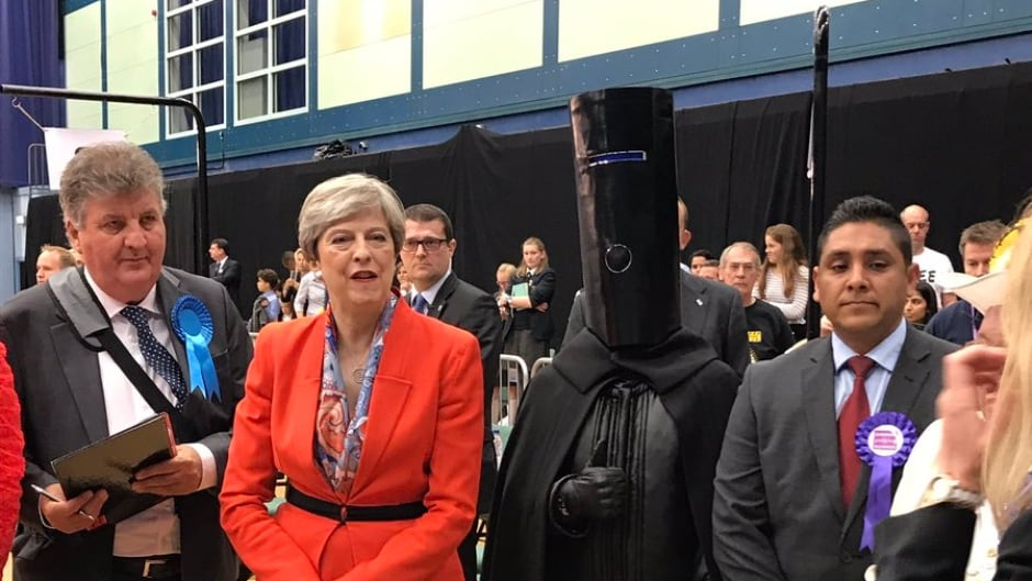 Lord Buckethead and Theresa May went head-to-(bucket)head in the constituency of Maidenhead.