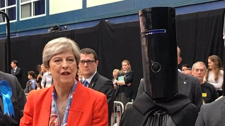 7230fb4ca24 Lord Buckethead and Theresa May went head-to-(bucket)head in the  constituency of Maidenhead. (Lord Buckethead/Twitter)