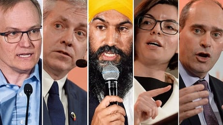 Five NDP leadership candidates