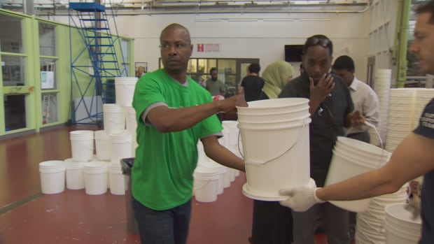 Local volunteers and members of the Canadian Somali community packed family emergency kits for African countries ravaged by severe drought conditions.