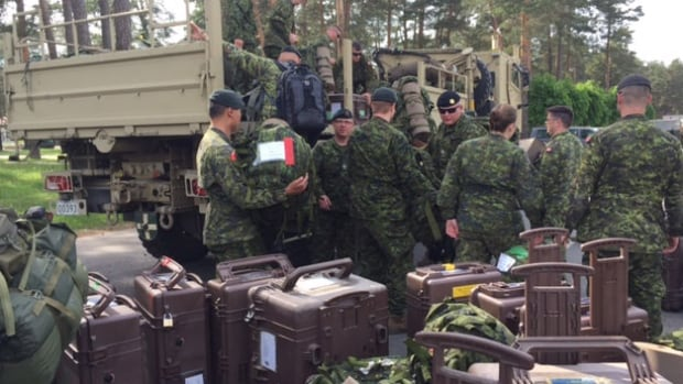 Soldiers arrived with kits containing their personal belongings,  anticipating a six-month stay.