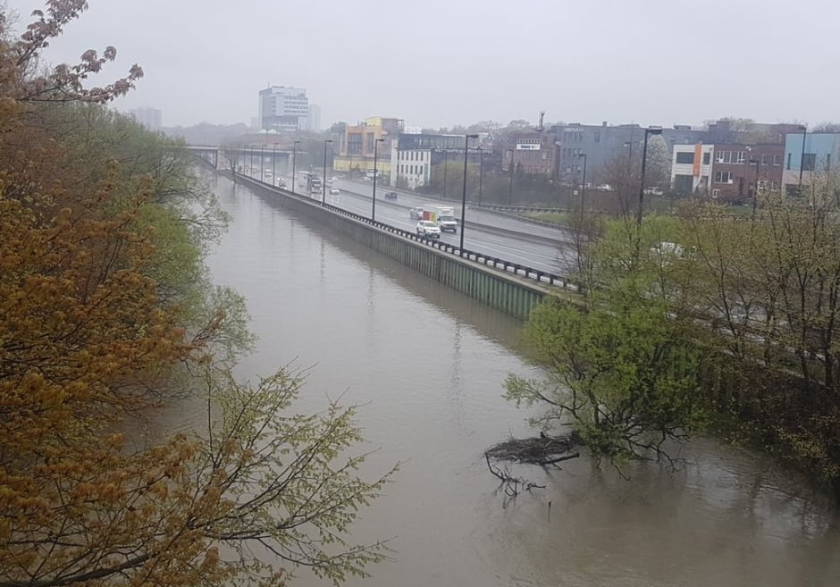 DVP Don Valley Parkway flooding