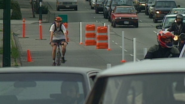 The one-week trial of the separated bike lane on the Burrard Bridge in 1996 drew the ire of thousands of drivers at the time, equipped with new cellphone technology to voice their complaints to city hall.