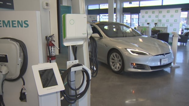Tesla Model S on display at Plug'n Drive Discovery Centre in North York. The non-profit that encourages electric vehicle ownership hopes changes to the provincial Condominium Act will allow for charging stations in multi-unit buildings.