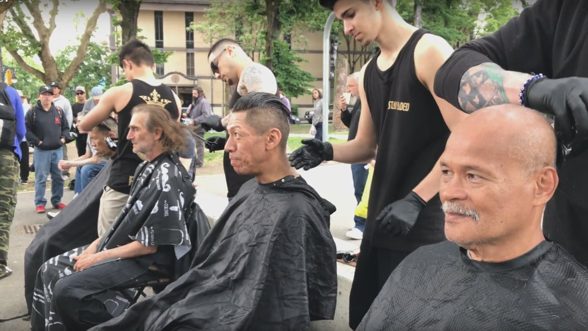 'We want to show there are people that care': Barbers give