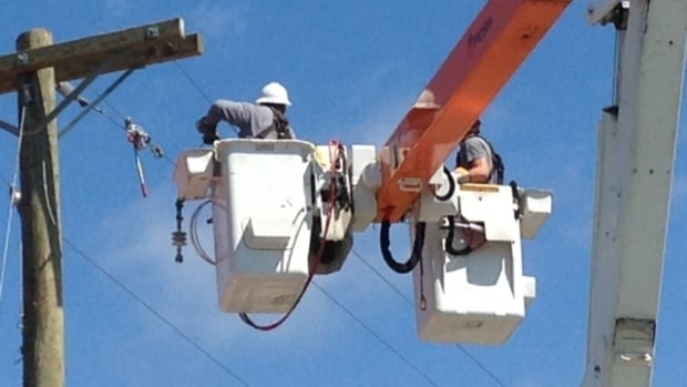 More than 6,000 customers were without power Monday afternoon in Fredericton.