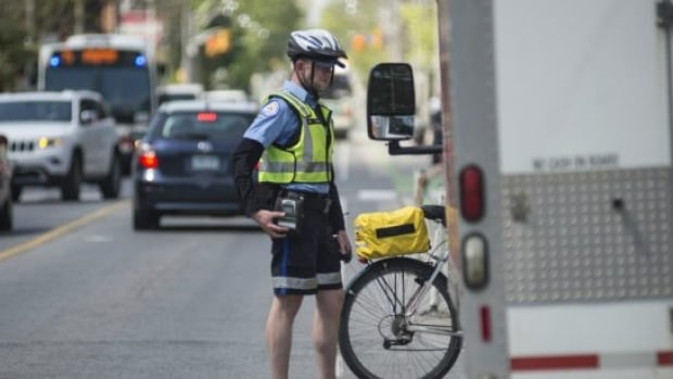 Parking Enforcement Officer Kyle Ashley has taken to Twitter to promote cycling safety and keeping bike lanes clear of vehicles.
