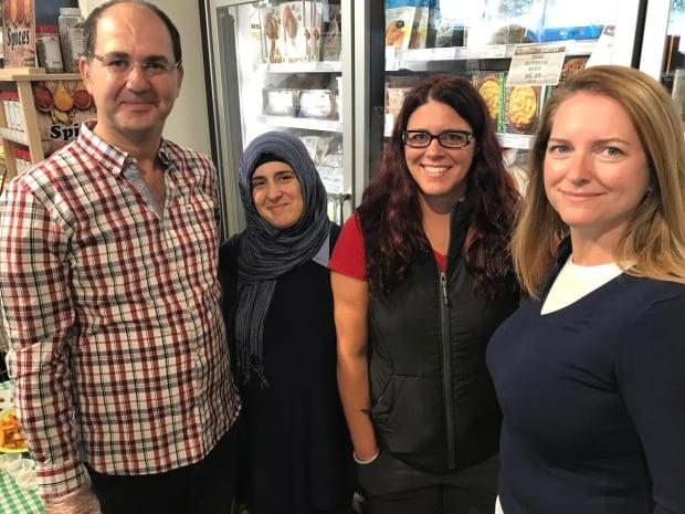 Ibrahim Hajibrahim, Ranim Khochkar, Lisa Buchan, and  Karen Short