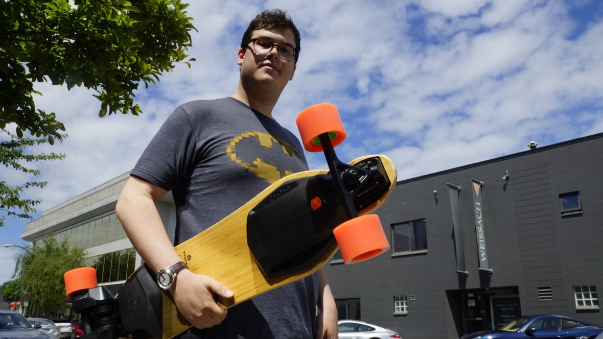 Are electric skateboards Vancouver\u002639;s next transportation flashpoint?  British Columbia  CBC News