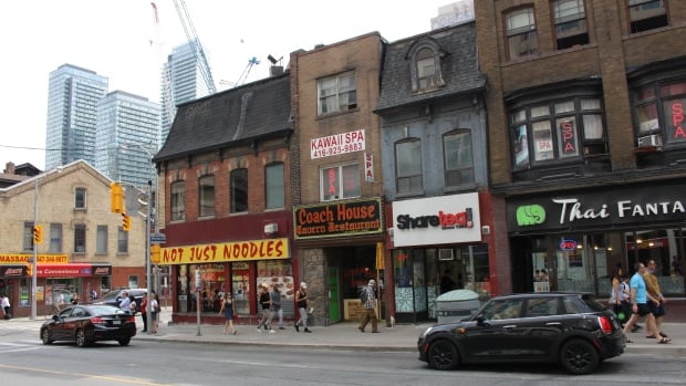 In Toronto, the property tax for a commercial space is determined by the building's current assessed value and then multiplied by about 2.5 per cent.