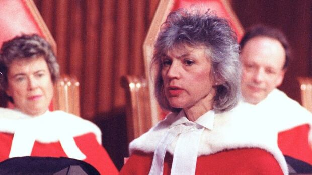 Justice Beverley McLachlin is sworn in as a Supreme Court justice in 1989. Appointing new members to the Supreme Court has traditionally had more to do with geography than ideology.