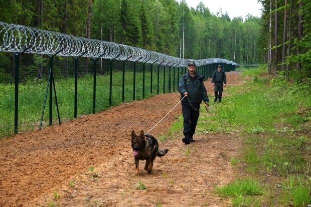 Latvian border guards