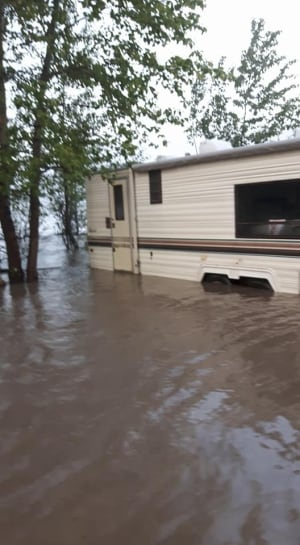 Flooding camping