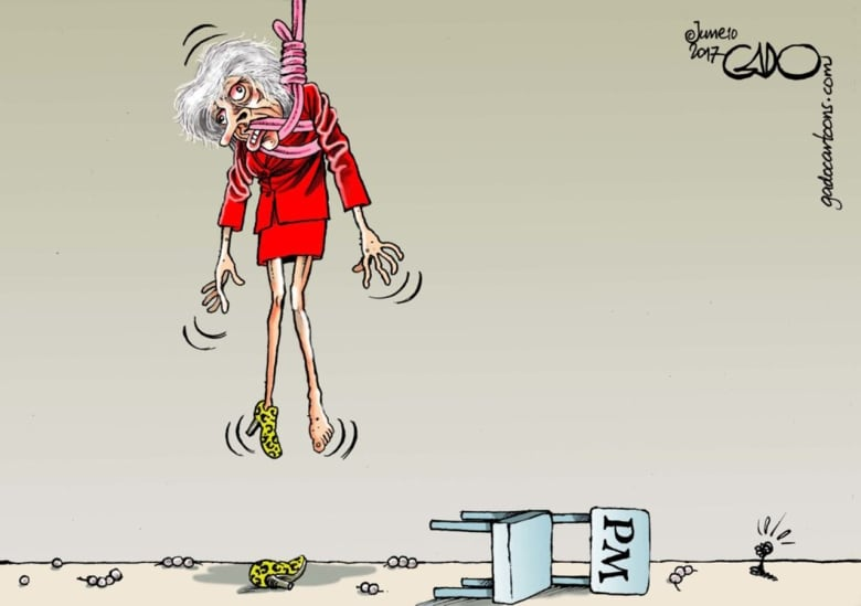 British Conservative Prime Minister Theresa May, cartoon