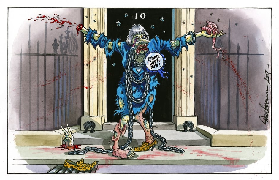 dave brown theresa may zombie government cartoon