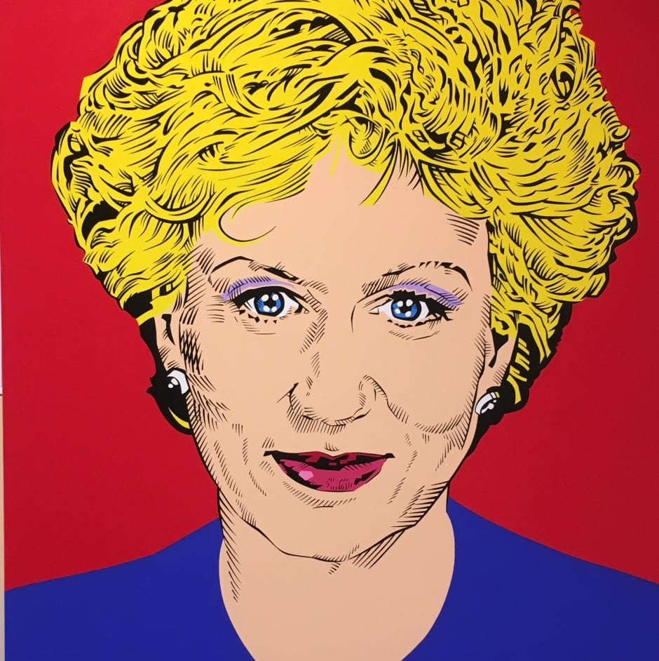 Kim Campbell, PM Popart, New Brunswick