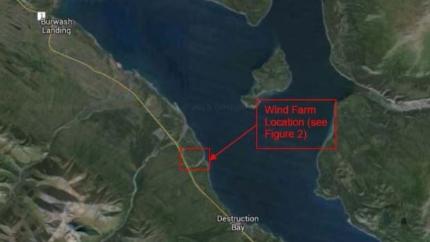Three turbines, each 50 metres tall, are planned for near the Kluane lakeshore.
