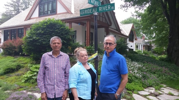 Subodh Anand, Doretha Murphy and Jean-Pierre Baribeau are all longtime residents of Rideau River Drive.