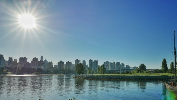 Remember this? Sun over English Bay from Vanier Park near the Marine Museum.