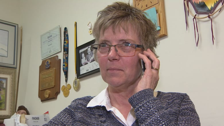 Barb Reid on the phone