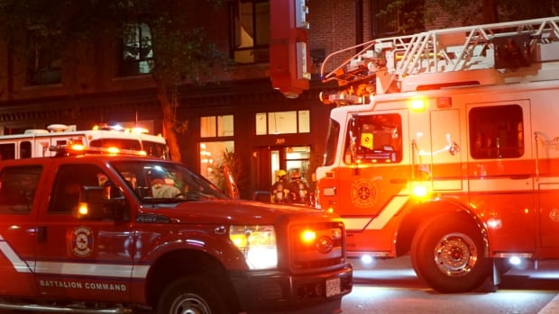Six people were displaced after a fire at the downtown Vancouver Rainier Hotel on Carrall Street.