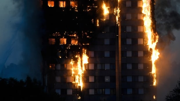 At least 12 people were killed and dozens more injured in the blaze that engulfed the 24-storey highrise apartment building in west London's North Kensington district on Wednesday.