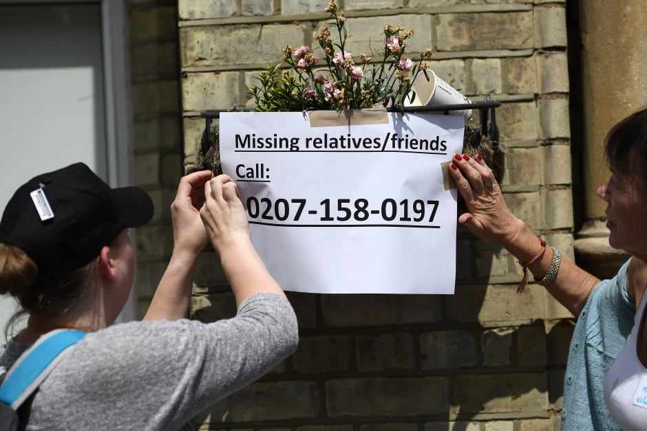 missing persons london fire