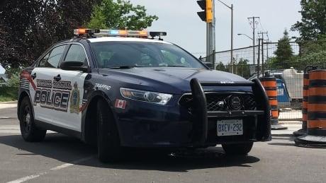 waterloo regional police traffic car in summer