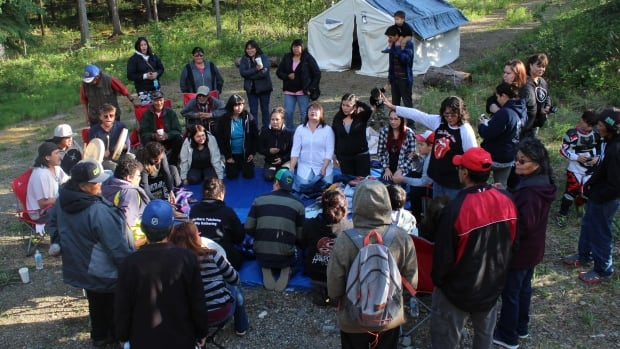 Participants in the Huchá Hudän Field School run out of the Yukon College campus in Pelly Crossing are in a month long program.