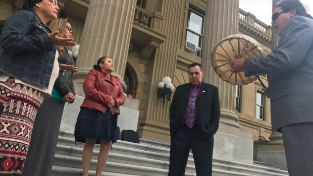 Adam North Peigan leads Alberta Sixties Scoop survivors in lobbying the provincial government for an apology.