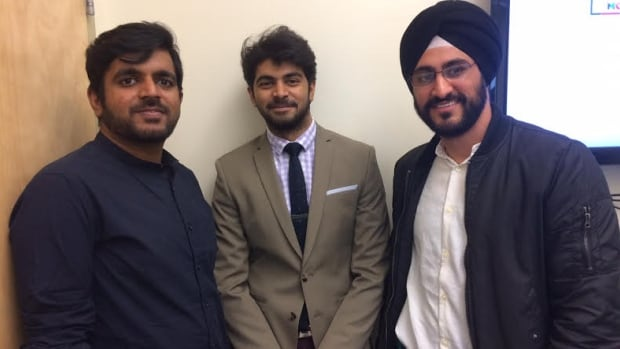 Vimal Ramaka, Alkarim Bhalesha, Gagandeep Sehgal, members of the development team of the Namaste World website.