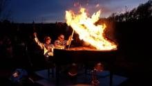 Becky Reesor, Rick Unger, piano burn