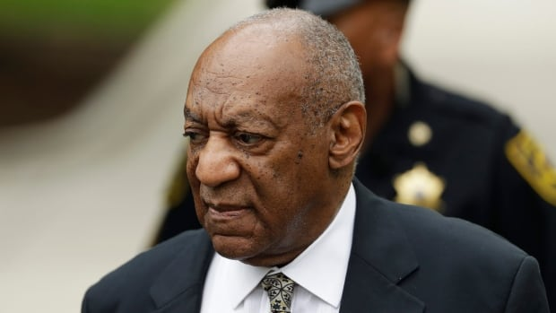 Bill Cosby arrives for jury deliberations in his sexual assault trial at the Montgomery County Courthouse in Norristown, Pa., Thursday.