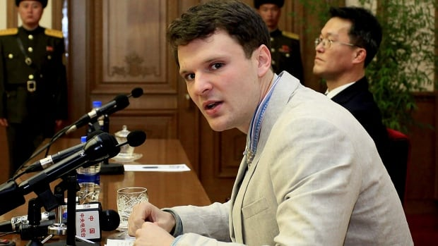 Otto Warmbier, shown in February 2016, has died at the age of 22 less than a week after being released from a North Korean prison.