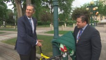 Brian Pallister bike ride jerry daniels