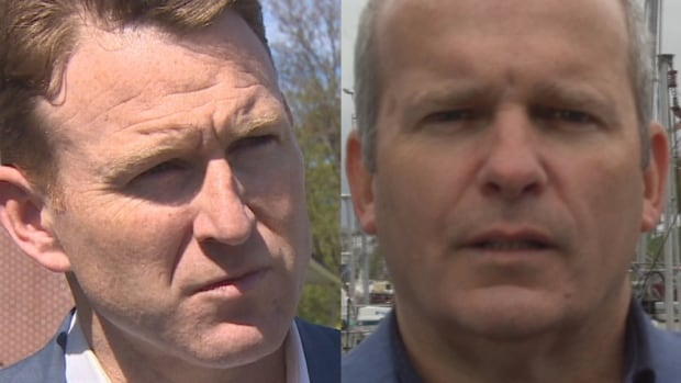 The two faces of a protracted labour battle in Newfoundland and Labrador are FFAW president Keith Sullivan (left) and Ryan Cleary, president of FISH-NL.