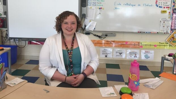 Stephanie Trottier teaches grades 2, 3 and 4 at Ecole catholique l'Enfant-Jesus in Dryden, Ontario. The school is marking its tenth anniversary in June.