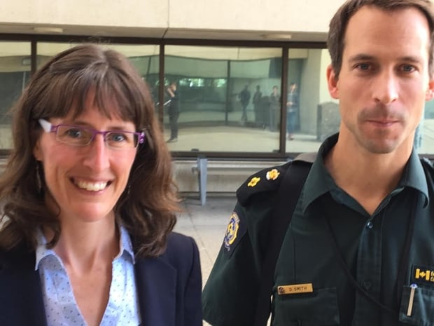 Crown prosecutor Erin Eacott (left), and Daniel Smith from Environment Canada