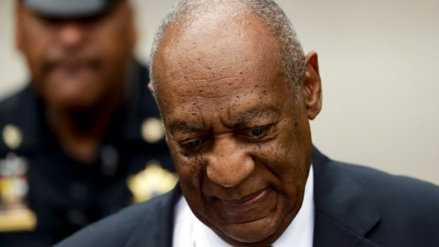 Bill Cosby arrives at the Montgomery County Courthouse on Friday for his sexual assault trial in Norristown, Pa. The jury was deadlocked on Thursday, but Judge Steven O'Neill urged jurors to try again for a verdict.