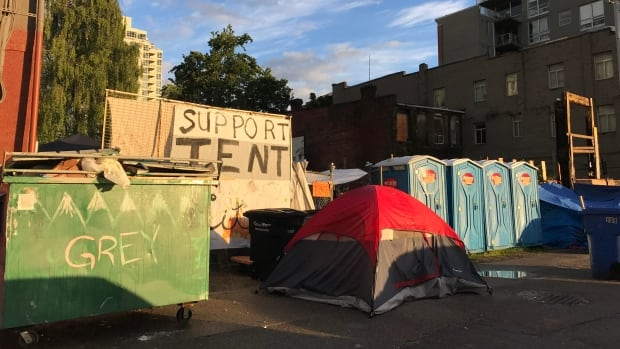 Residents of a tent city on Vancouver's Downtown Eastside have been ordered to leave by noon Wednesday.