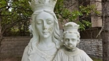 Statue of Baby Jesus and Mary