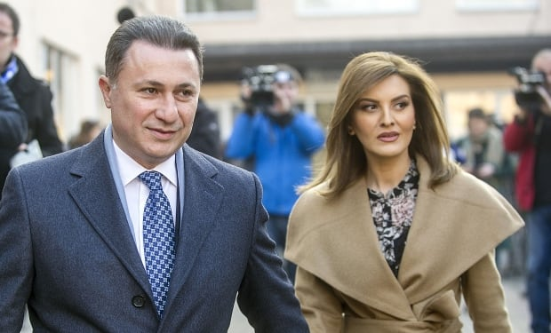 Nikola Gruevski and his wife Borkica