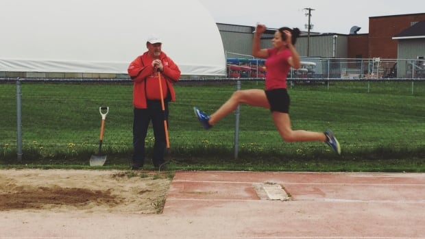 Madison and her coach, Carl McIntosh, have trained at the Fredericton Legion Track Club since January.