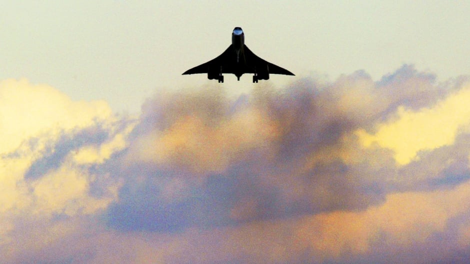 A Concorde makes its final approach to London's Heathrow airport in October 2003.