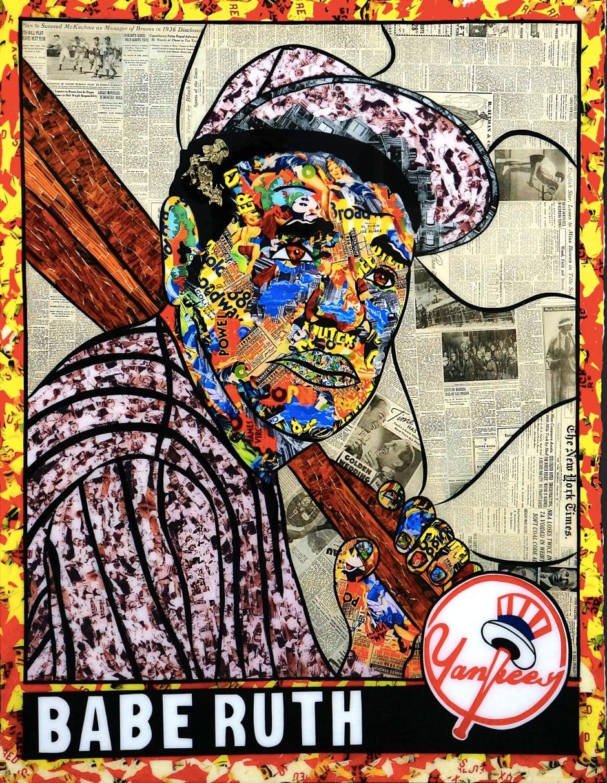 Daniel Mazzone Babe Ruth Art