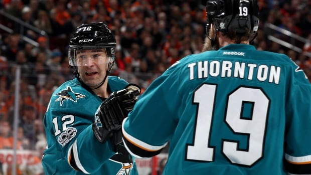 Patrick Marleau, left, and Joe Thornton, right, are impending unrestricted free agents and face decisions about where they want to play next season.