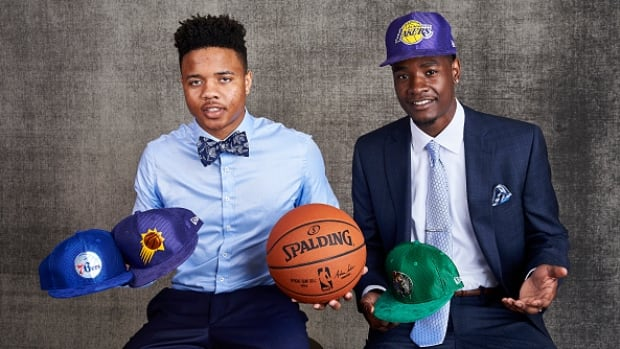 Draft prospects Markelle Fultz, left, and Josh Jackson, right, are both predicted to go high in Thursday's NBA draft.