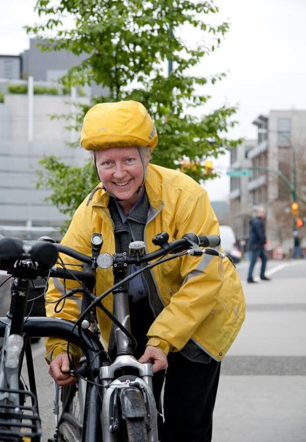Fiona Walsh and her e-bike